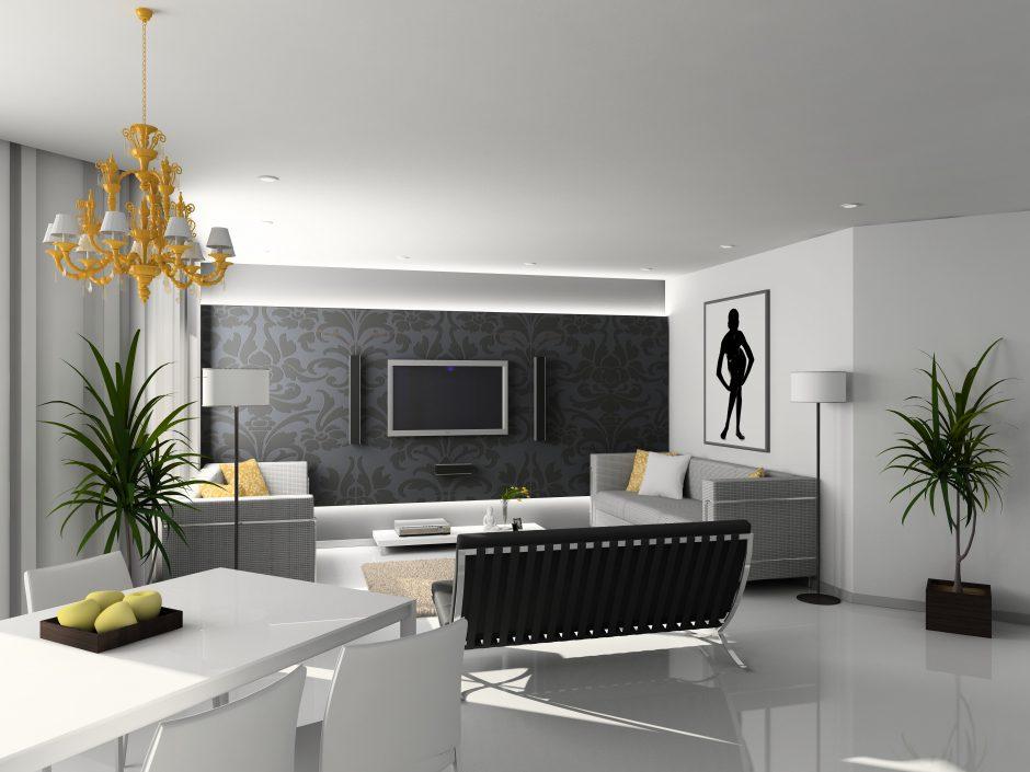 Reforma salón con estilo moderno